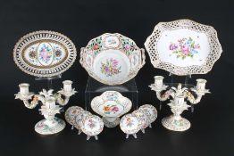 Potschappel Dresden Porzellankonvolut, porcelain lot,