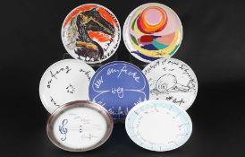 7 Künstlerteller, Rosenthal, artist plates,7 Künstlerteller,