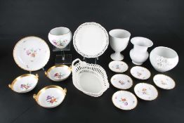 KPM Berlin Porzellankonvolut, porcelain lot,