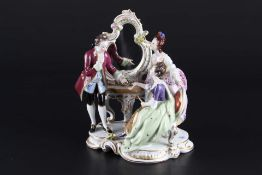 Aelteste Volkstedt galante Gesellschaft - Figurengruppe, porcelain group of figures,