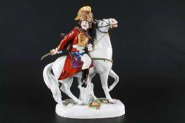 Aelteste Volkstedt Husar zu Pferd, hussar on horse,