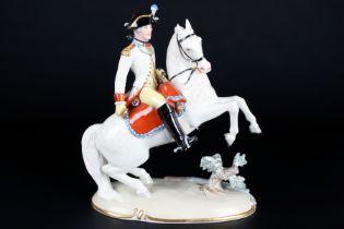 Nymphenburg bayrischer Dragoner, bavarian dragoon by Joseph Wackerle,