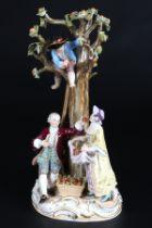 Meissen Figurengruppe Apfelernte, apple harvest group of figures,