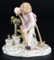 Meissen Allegorie der Erde - Gärtnerputte, allegory of earth gardener cupid,