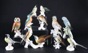 Ens Karl - 12 Vogelfiguren, Thüringen, bird sculpture,