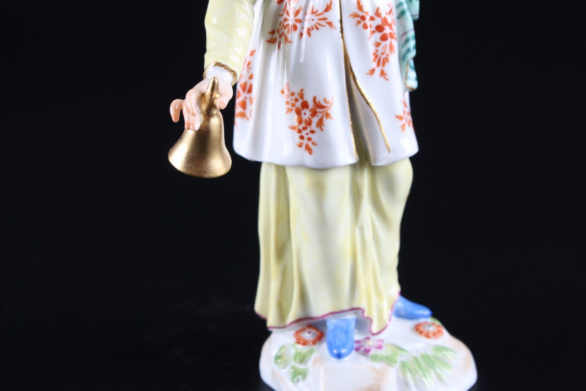 Meissen Fremde Völker Japanerin mit Klingel, japanese with bell, - Image 7 of 9
