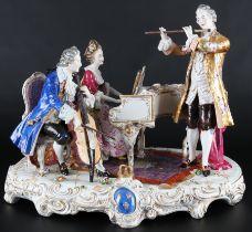 Aelteste Volkstedt Rudolstadt übergroße musizierende Figurengruppe, huge groupe of figures,