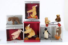 Steiff Konvolut von 6 Stofftieren, Museum-Collection, Steiff stuffed animals,