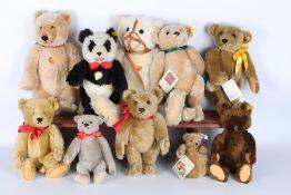 Steiff Konvolut von 10 Stofftieren / Bären, Steiff stuffed animals,