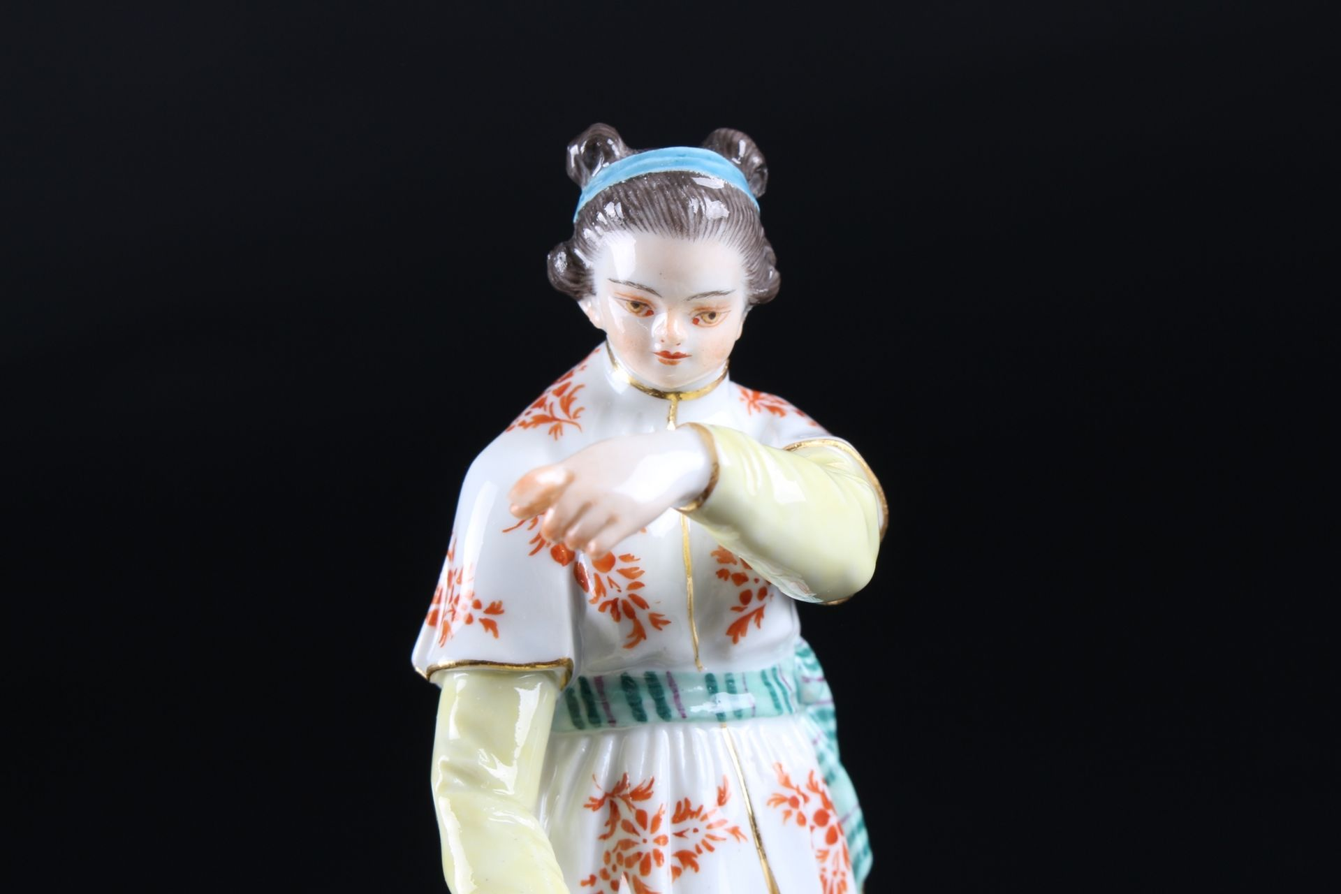 Meissen Fremde Völker Japanerin mit Klingel, japanese with bell, - Image 6 of 9