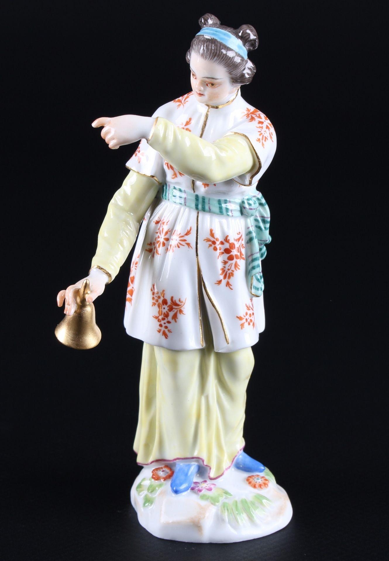 Meissen Fremde Völker Japanerin mit Klingel, japanese with bell,