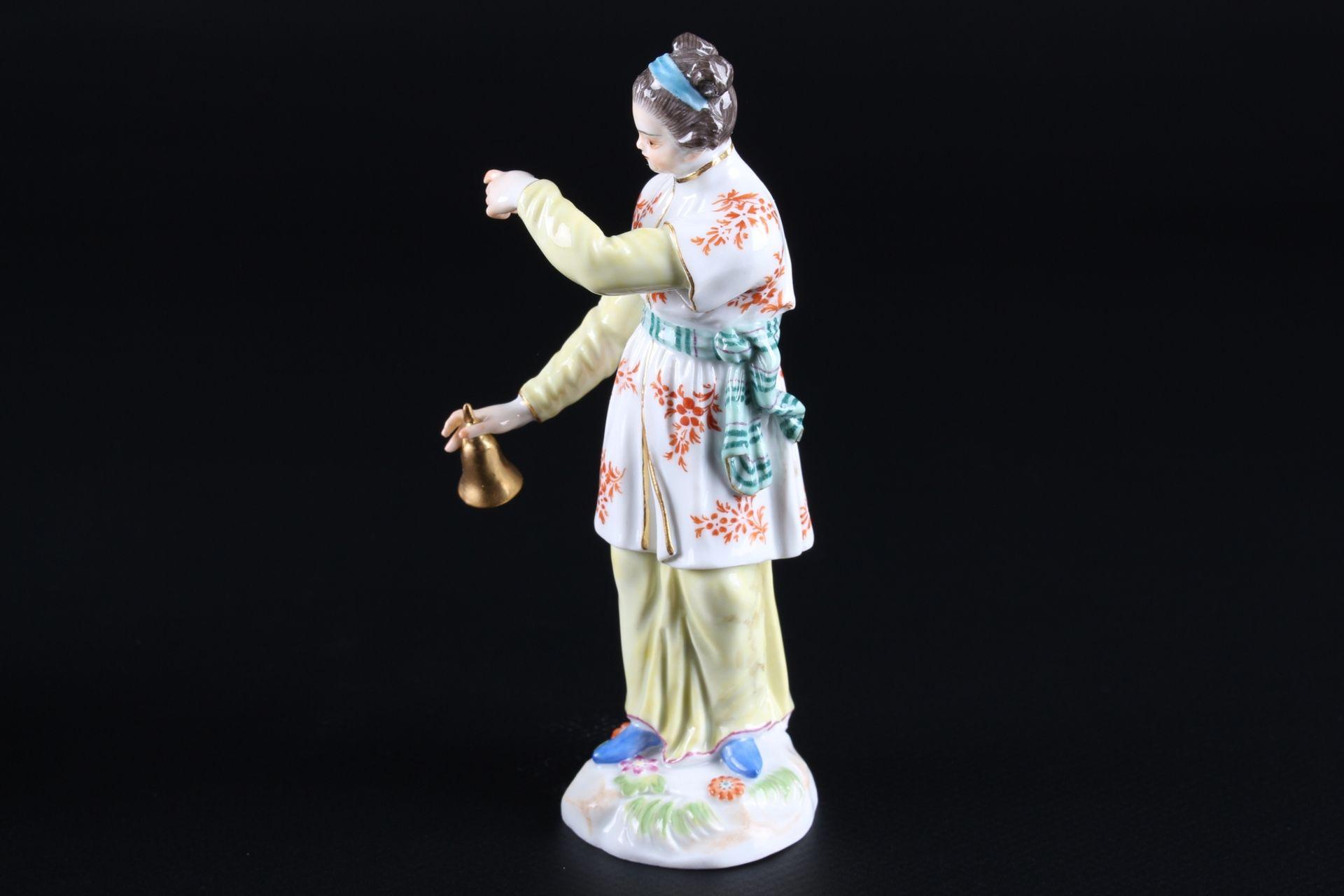 Meissen Fremde Völker Japanerin mit Klingel, japanese with bell, - Image 3 of 9