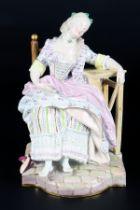 Meissen Die Schlafende, Louise le déserteur, girl sleeping in chair,