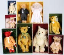 Steiff Konvolut von 9 Stofftieren / Bären, Steiff stuffed animals,