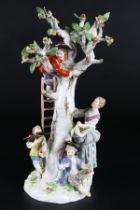 Meissen Figurengruppe Apfelernte, figure group apple harvest,