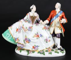 Meissen Figuren Der polnische Handkuss, group of figures the polish kiss,