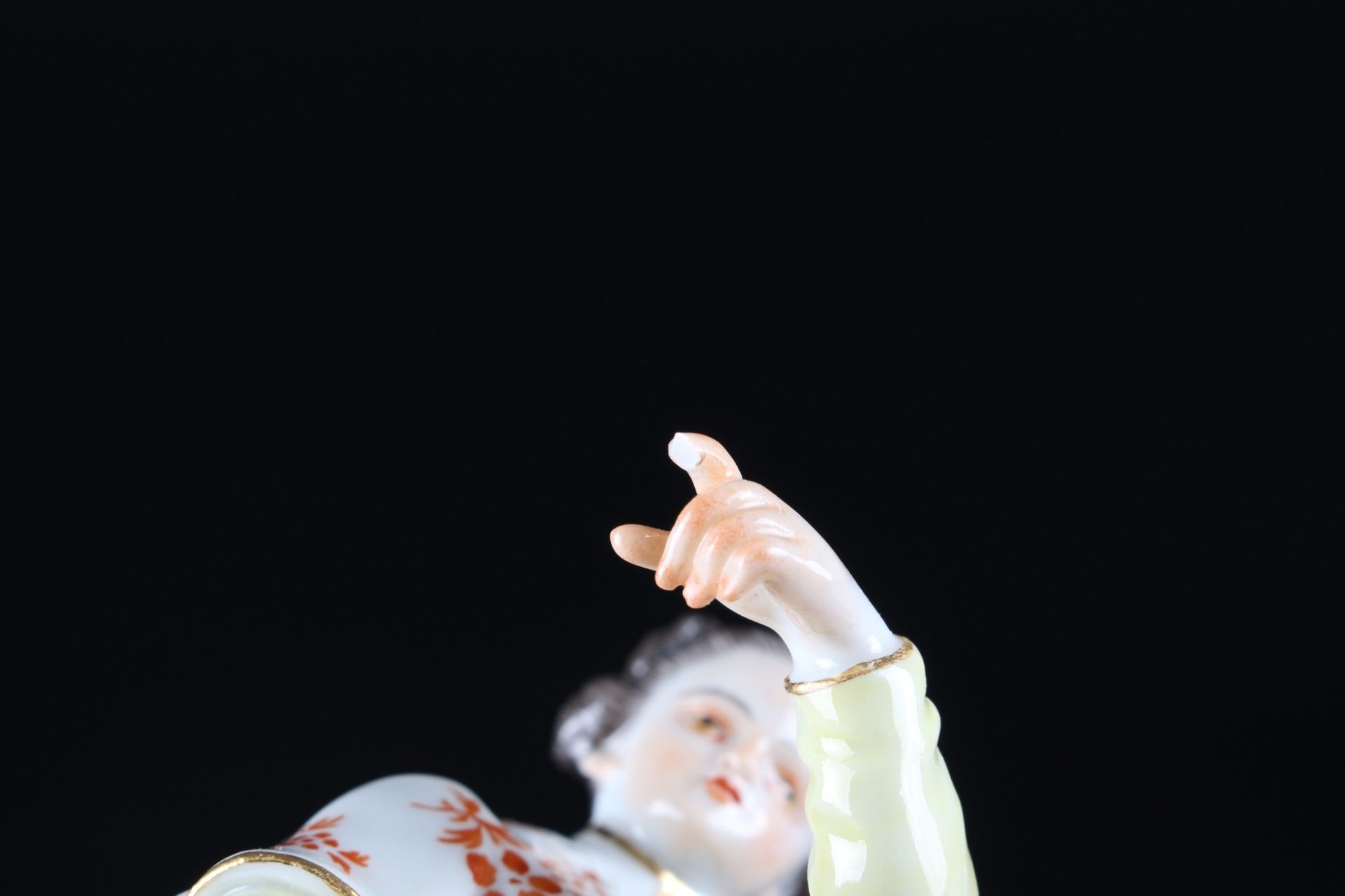 Meissen Fremde Völker Japanerin mit Klingel, japanese with bell, - Image 9 of 9