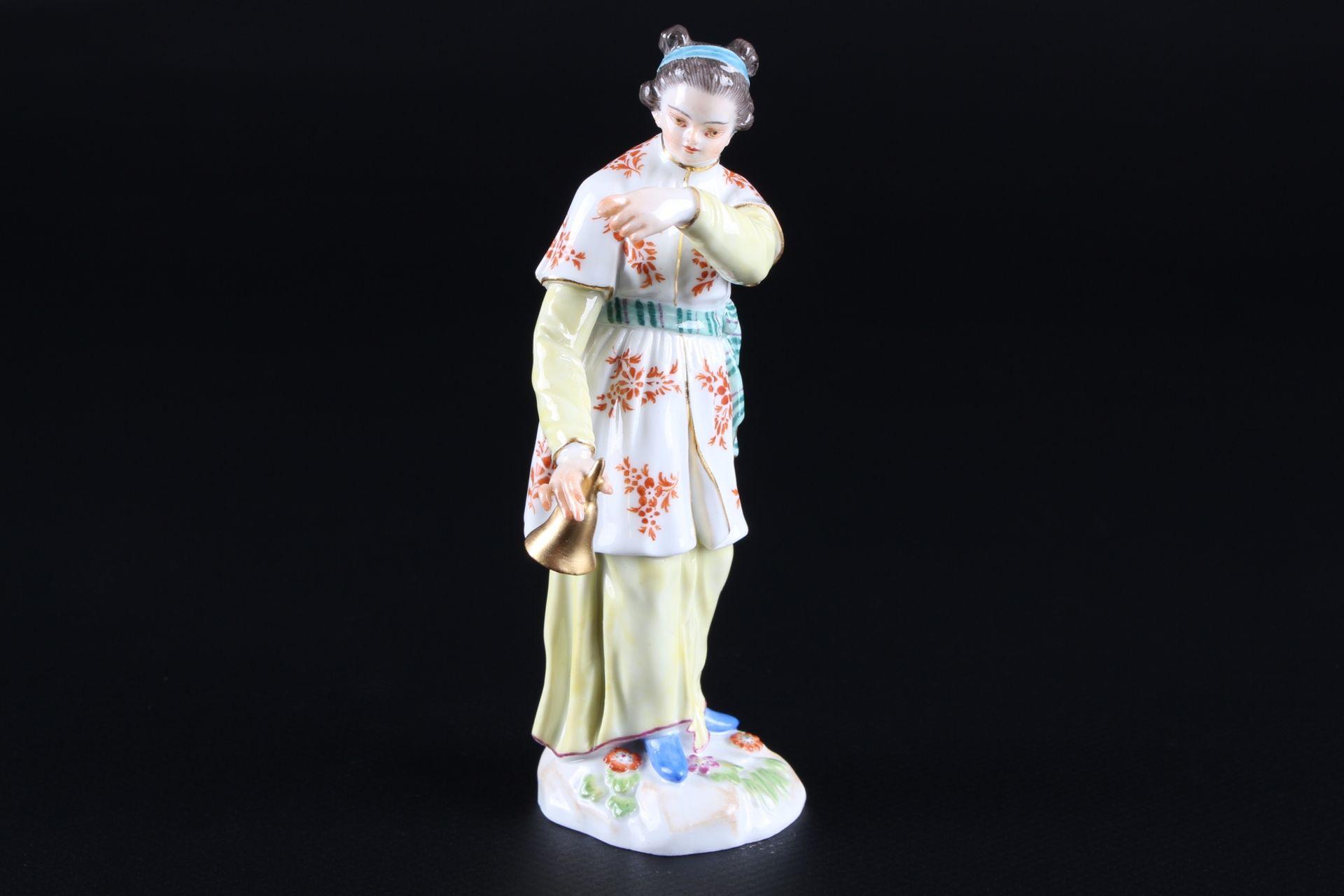 Meissen Fremde Völker Japanerin mit Klingel, japanese with bell, - Image 2 of 9
