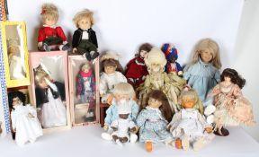 Sammlung 10 Puppen, u.a Schildkröt, Bruno Schmidt, teils antik, puppets, partly antique,
