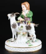 Meissen Knabe mit Ziege, boy with goat,