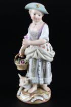 Meissen Gärtnerkind mit Schaf, gardeners child with sheep,