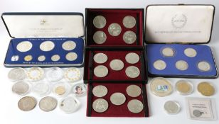 Konvolut Sammel- & Gedenkmünzen, u.a. Silber, commemorative coin collection, including silver,