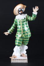 Meissen Tartaglia aus der Commedia dell'Arte, porcelain figure,
