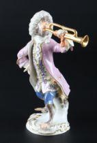 Meissen Trompeter aus der Affenkapelle, trumpeter monkey chapel,