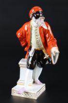 Meissen Pantalone aus der Commedia dell'Arte, porcelain figure,