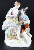 Meissen romantische Figurengruppe, romantic figure group,