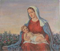 Walter Einbeck (1890-1968) Marienbildnis mit Christi, holy mary with christ,