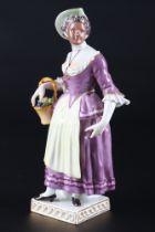 Meissen Ortolana aus der Commedia dell'Arte, porcelain figure,