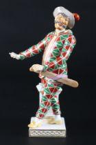 Meissen Harlekin aus der Commedia dell'Arte, porcelain figure,