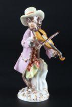 Meissen Geiger aus der Affenkapelle, violinist monkey chapel,