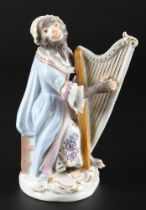 Meissen Harfenistin aus der Affenkapelle, harpist monkey chapel,