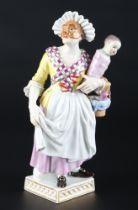 Meissen Gnaga aus der Commedia dell'Arte, porcelain figure,