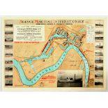 Advertising Poster Antwerpen Port Map International Shipping Agency