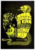 Rock Concert Poster Garden of Eden Band Flower Man