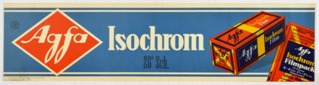 Advertising Poster Agfa Isochrom Photo Film Art Deco