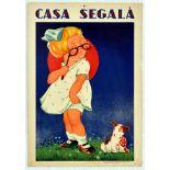 Advertising Poster Casa Segala Eye Glasses Puppy Girl