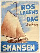 Advertising Poster Roslagens Day Skansen Sailing Barge