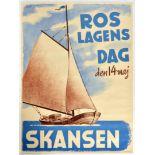 Advertising Poster Roslagens Day Skansen Sailing Barge