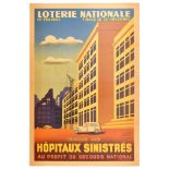 Advertising Poster French National Lottery Hospitals WWII Vichy