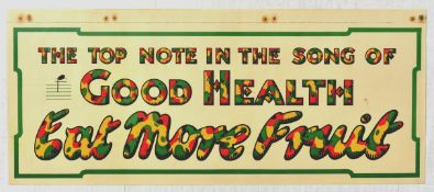 Advertising Poster Good Health Song Eat More Fruit