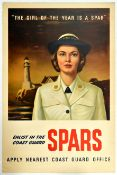 War Poster Coast Guard Spars USA Home Front