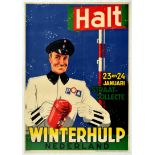 Advertising Poster Charity Winter Help Netherlands