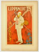 Advertising Poster Lippincotts August Maitres de Laffiche Tennis