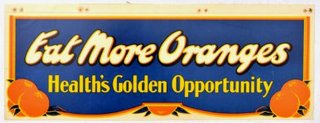 Advertising Poster Eat More Oranges Health Golden Opportunity