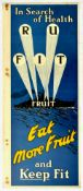 Advertising Poster Fitness Searchlight Navy Ship Fruit