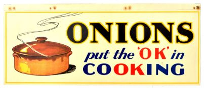 Advertising Poster Onions OK Cooking